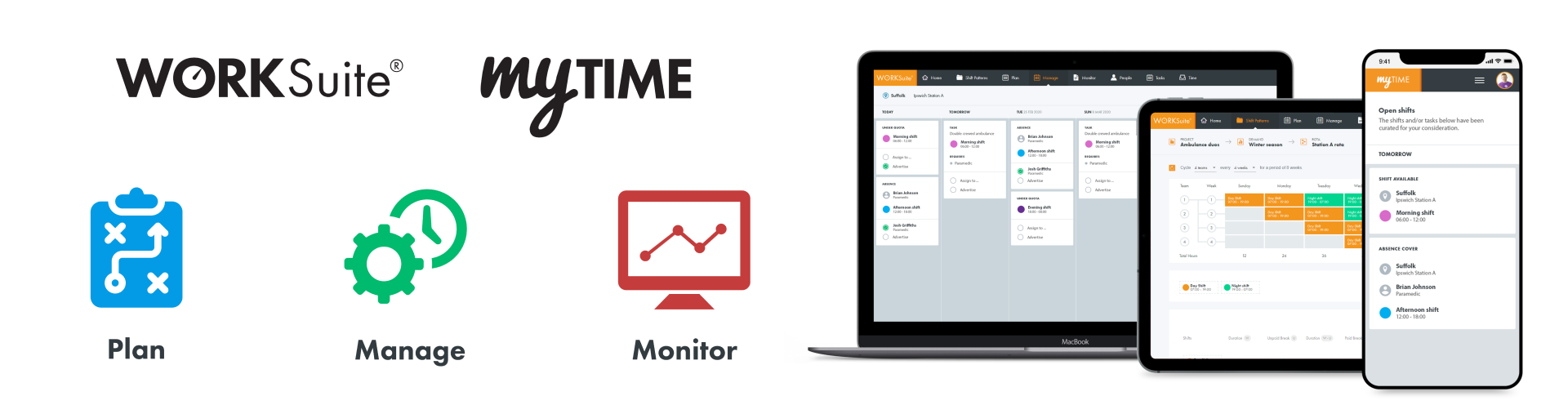 Cloud workforce management software for shift patterns, scheduling, rotas and rosters